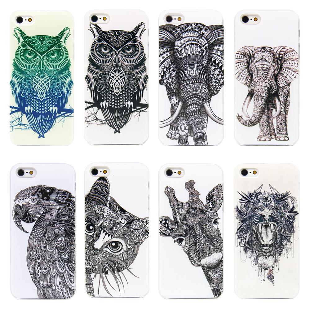 2015 Vtg Style Head Case Aztec Elephant Giraffe Animal Hand Drawn Animal Back Case Cover For Apple i Phone iPhone 4 4s/5 5s(China (Mainland))