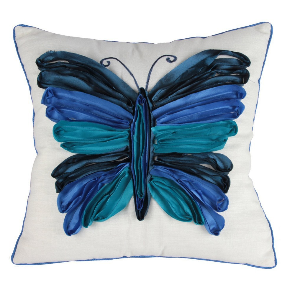 1 Pc Butterfly Pillow Case Cushion Cover Decorative Throw Pillowcase Pillow Case 18 X 18 Inch ...