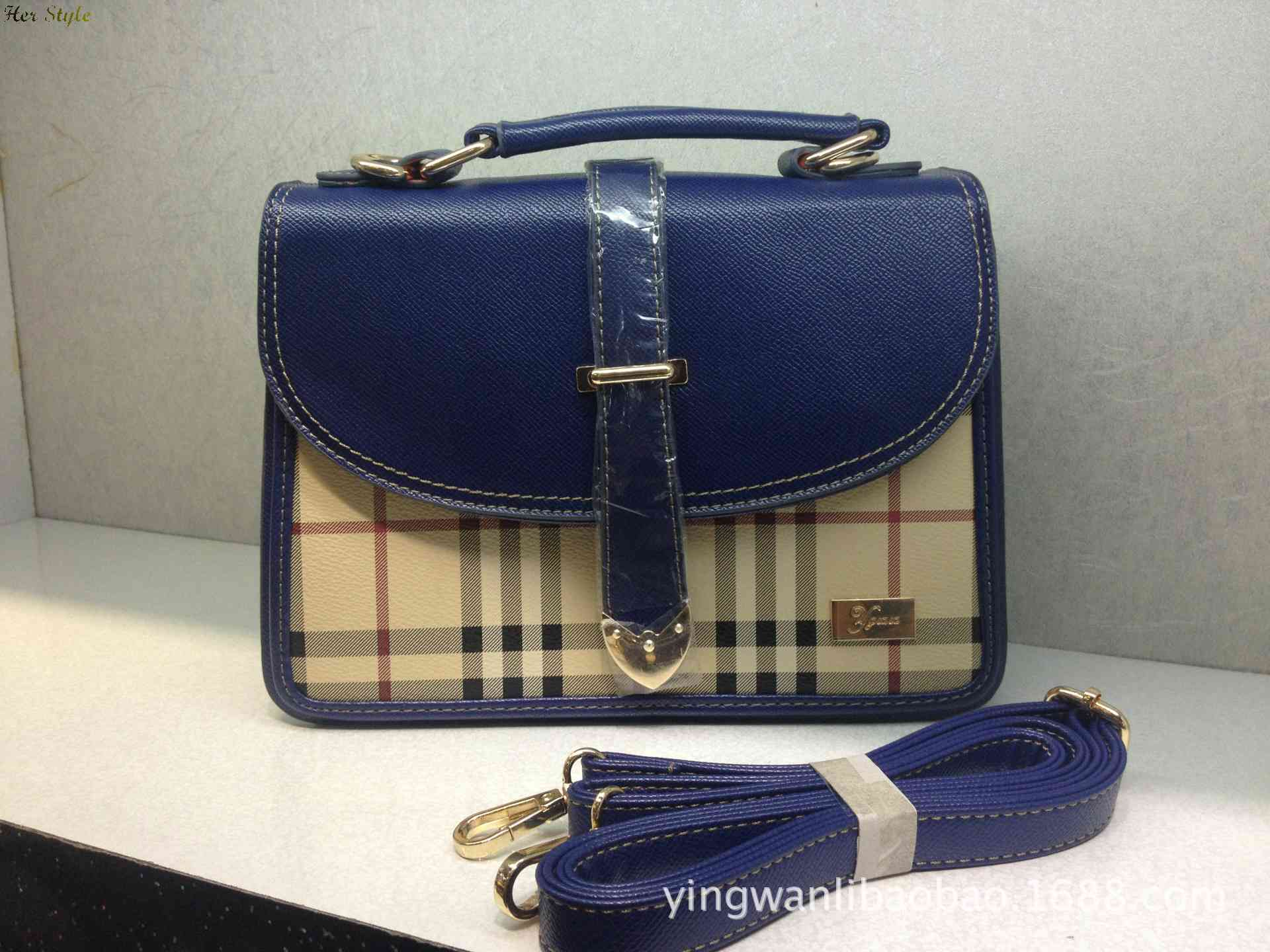 Free Shipping new 2014 Plaid handbag handbags shoulder bags diagonal woman carry three female 1430750022(China (Mainland))