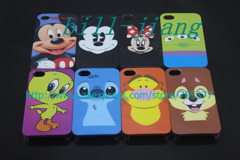 cute cartoon tiger squirrel stitch design Hard Back Cover Case For iPhone 4 4S MOQ 1pc by china post(China (Mainland))