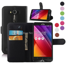 Litchi Texture Leather Wallet Case Credit Card Slots & Holder ASUS Zenfone 2 Laser/ZE550KL/5.5 inch/Z00LD Phone Cover - KSW TECH Store store