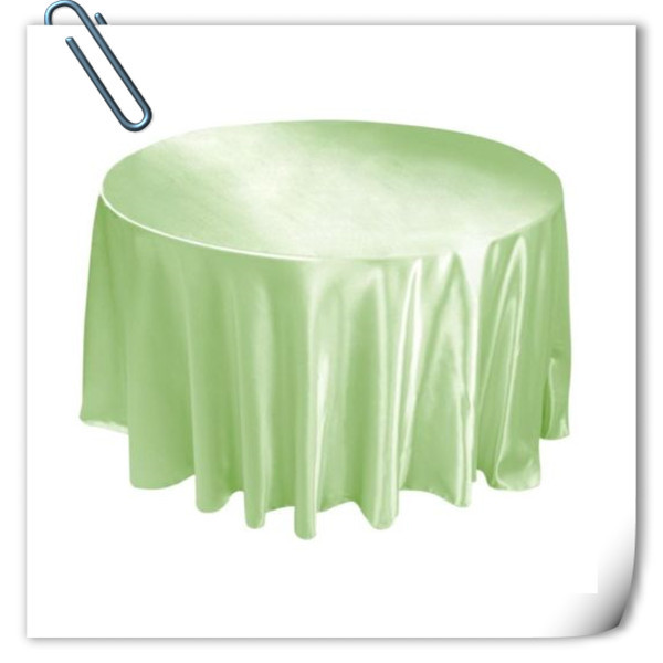 Factory Price !!! 10pcs Mint Green 90inch Satin table cloth for weddings parties hotels restaurant Free Shipping(China (Mainland))