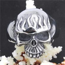 Top Selling 90g Heavy Skull Bracelet 316L Stainless Steel Cool Punk Style Ghost Skull Bracelet Bangle