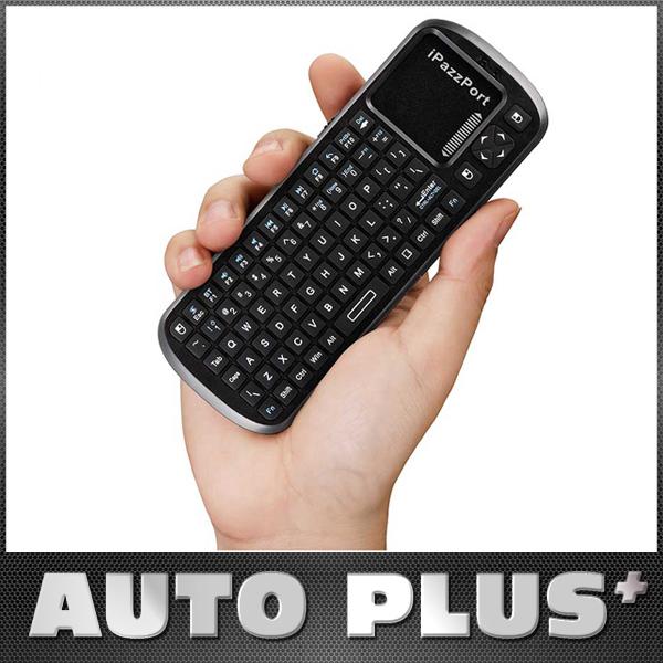 5Pcs/lot iPazzPort 84 Keys Mini Handheld Wireless Keypad Bluetooth Keyboard Touchpad Scroll Bar for Android Smart TV Box(China (Mainland))