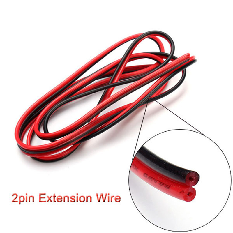 5m/10m/20m/lot, 22awg 2pin 5050 3528 RGB LED Strip Wire Extend Red Black Cable Cord Connector Cable Electrical Wire CB-22AWG-RB(China (Mainland))