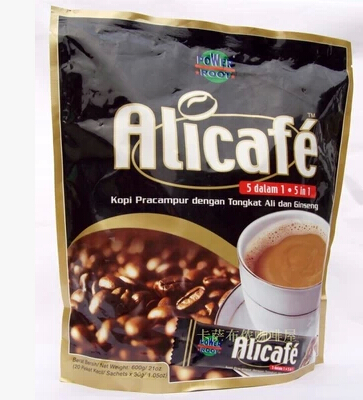 Malaysia imported genuine tongkat ali tongkat ali extract coffee brown Rite alicafe5 in 1 Ginseng White