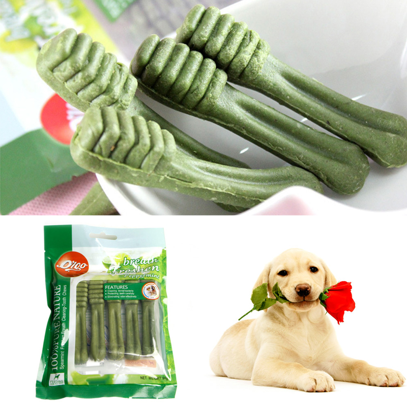 Pet Supplies Dog teeth stick Pet Fresh Clean Teeth Bones Puppy Dog Tooth Stick Pet Training Snacks Bite Dog chew Play toy(China (Mainland))