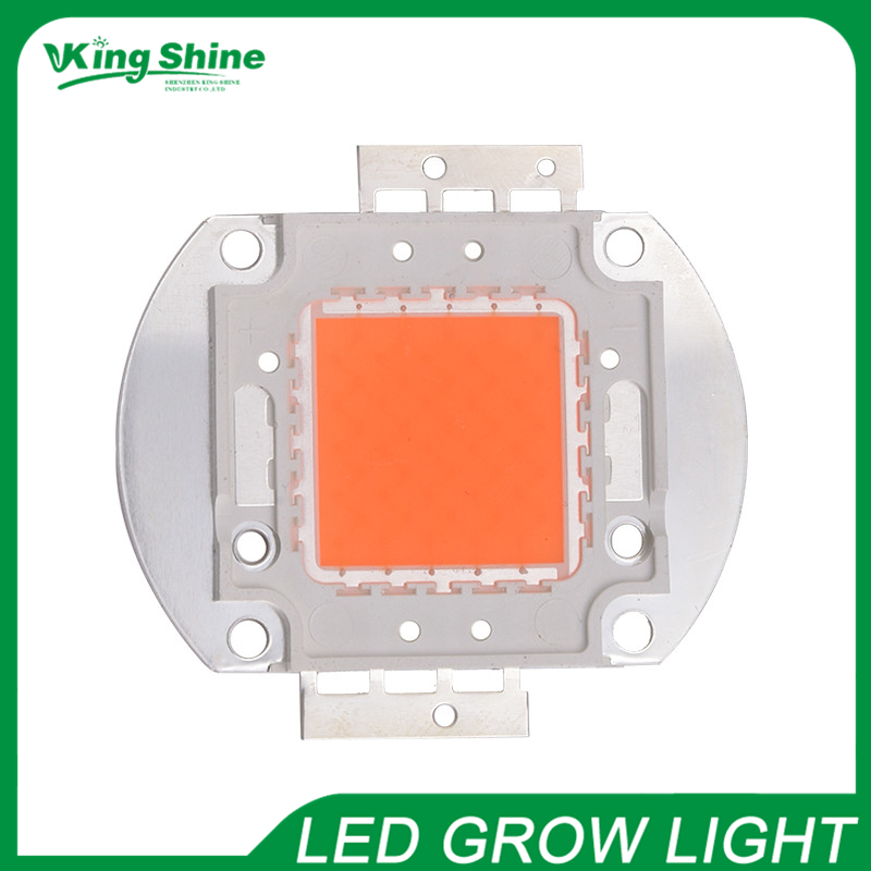 Hot sell real full spectrum 380-840nm indoor instead sunlight actual Power 50W DIY led grow light chip for plants free shipping(China (Mainland))