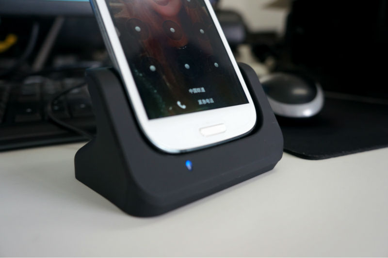Dual USB Sync Charger Battery Charging Dock Cradle for Samsung Galaxy S4 i9500(China (Mainland))