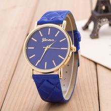 Lowest price new Hot Luxury gold Geneva Women watch Geneva PU Leather Casual Quartz dress Watches
