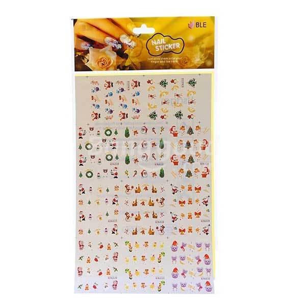 Hendrixx BLE Christmas Snowman Santa Nail Art Water Transfer Decal Sticker(China (Mainland))