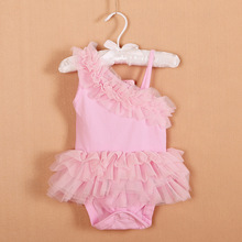 2015 new infant clothing baby dress  princess dress fluffy summer 2 color(China (Mainland))
