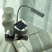 Portable Flexible power bank Solar led rechargeable lamp table lamp USB book reading lights office lamp reading bed l