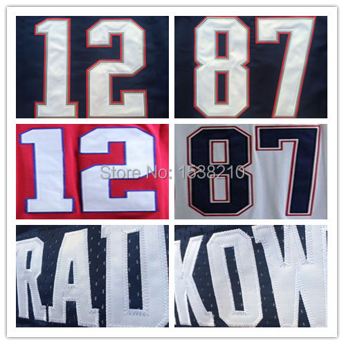2015 Super Bowl XLIX Champions Patch Men's Football Jerseys #12 Tom Brady #87 Rob Gronkowski Stitched Elite New England Jerseys(China (Mainland))