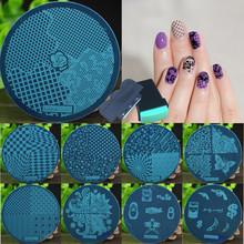 10 Pcs Nail Art Stamping + 1 Stamper + 1 Scraper, Nail Art Stamping Template Plates, Polish Print Nail Image Plate Stamper(China (Mainland))