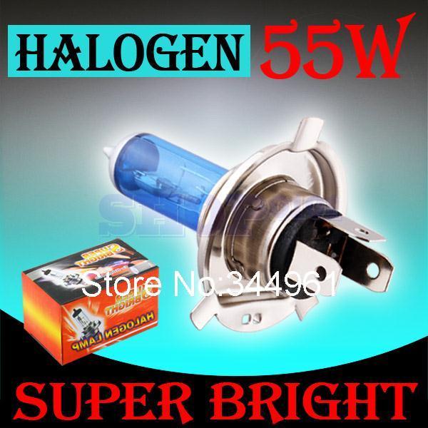 H4 55W 12V Super White Fog Lights Halogen Bulb High Power Car Headlight Lamp Car Light