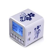 2015 New Nizhi TT032 Mini Portable digital FM radio portable radios support SD card speaker USB MP3 Players with clock