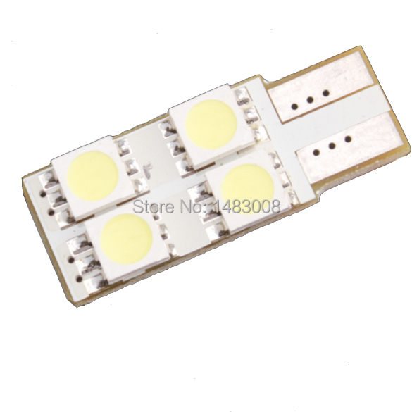 T10 W5W SMD 5050 4LED Car Interior Panel LED Wedge Dome Light Lamp Bulb High Quality(China (Mainland))