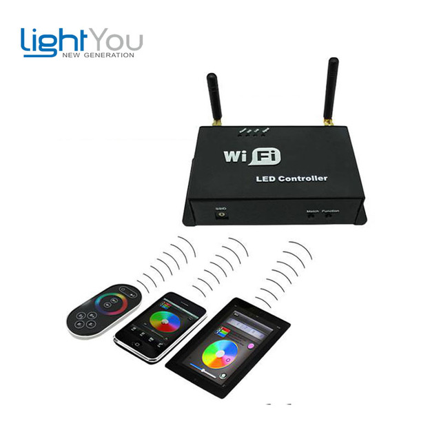 Dc5-24v constant Current RGB Wifi controller WF101 Android Or Ios System Wifi Single Point Led Controller,dream Color Controller