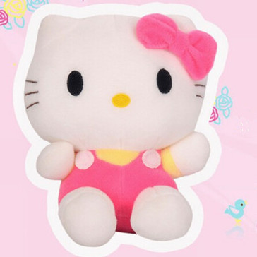 Pink Hello kitty Stuffed Plush Toys Cheap animals dolls children kids girl Birthday Christmas New Year Gifts cartoon kt cat toy(China (Mainland))