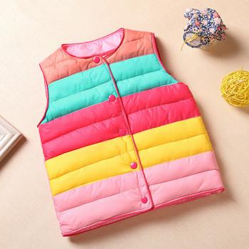 2016 New Autumn Spring Girls Vest Baby Rainbow Outerwear Waistcoat Vests For Children Kids Boys Vest Coat Warm Vests Jacket