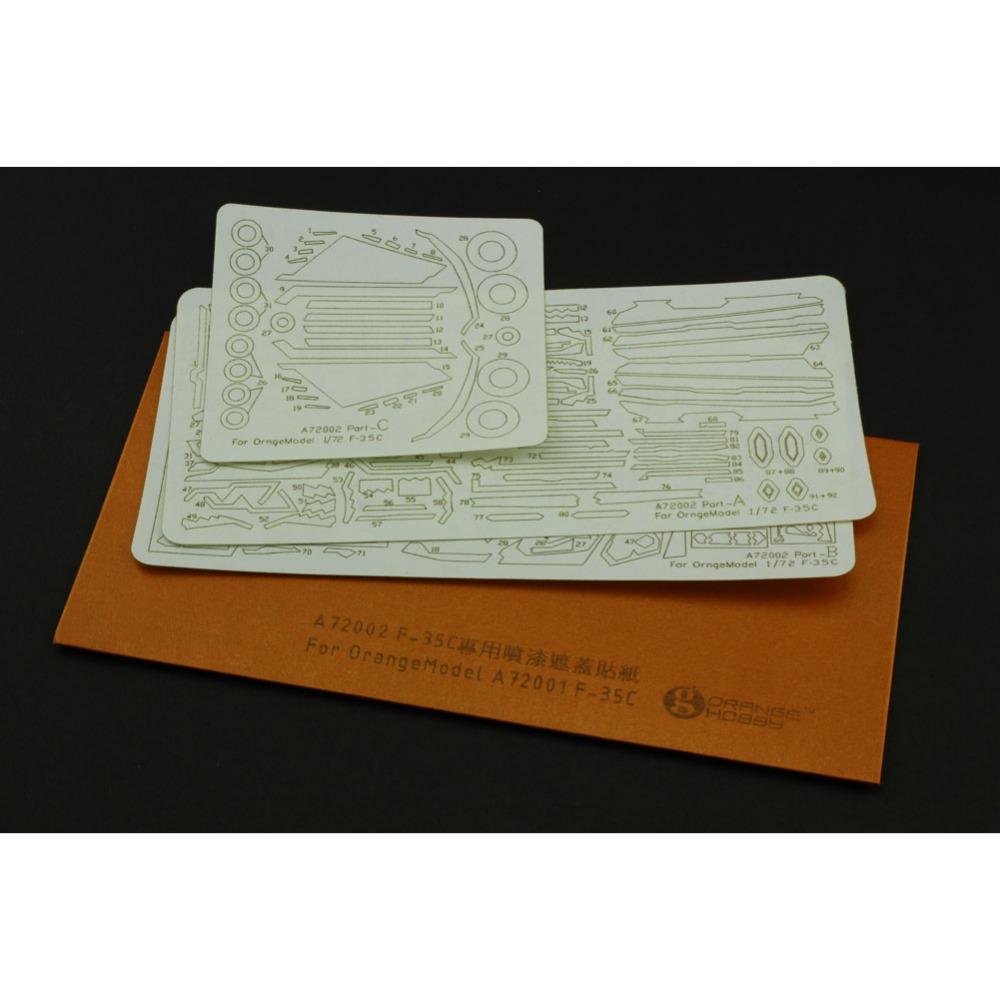 1x OrangeHobby 1/72 A7200248 Spray Masking Sticker Set for OrangeHobby A72001148 C9T Model Supply Model Building Kits(China (Mainland))