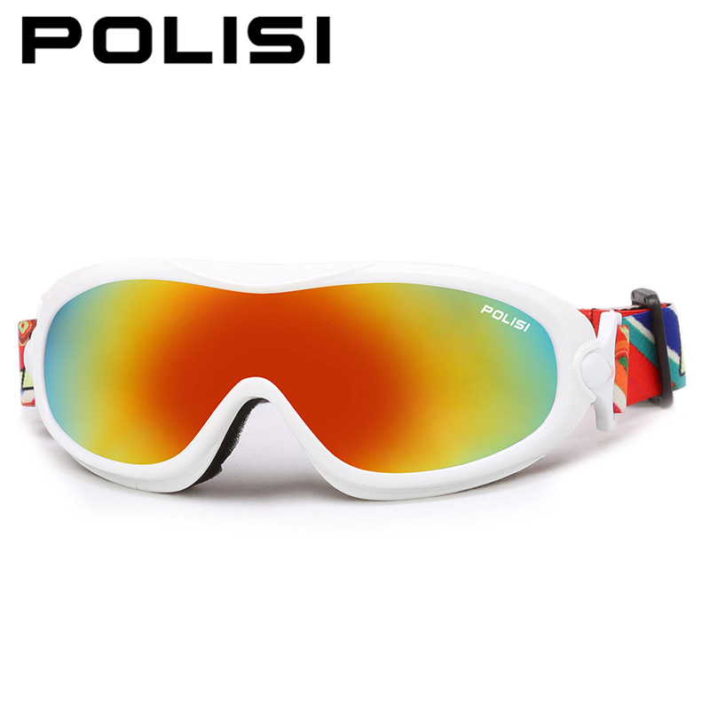 POLISI Winter Anti-Fog Ski Goggles Men Women Snowboard Protective Eye wear Motorcycle UV400 Snowmobile Skate Snow Glasses(China (Mainland))
