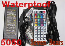 Buy White PCB Board 5050 LED RGB Strip 5M IP65 Led Tape Waterproof 300 LEDs/Roll +Mini 44 keys IR Remote+12v 5a power supply for $18.00 in AliExpress store