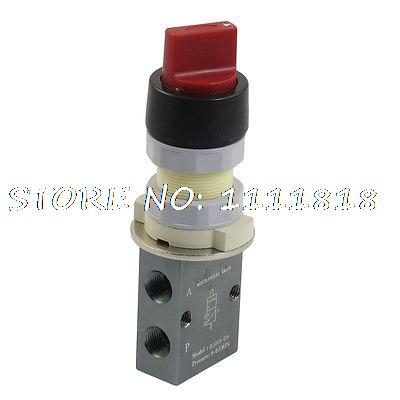 "S3HS-06 3 Port 2 Position Selector Button Pneumatic Mechanical Valve 1/8"" PT(China (Mainland))"