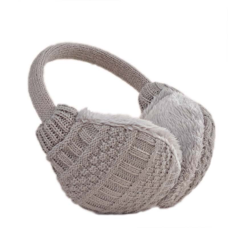 2016 Solid Knitted Thermal Earmuff Unisex Men Women Earmuffs Lovers Plush Ear Muffs Winter Warm Washable Knitted Earmuff(China (Mainland))