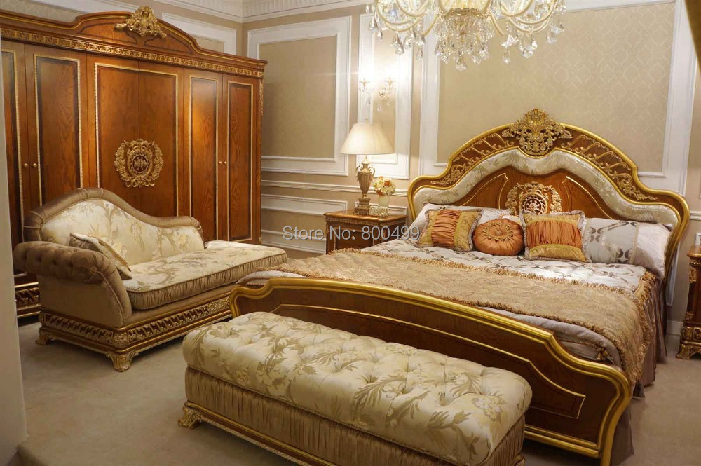 Hogar Bedrooms Bisini Luxury Solid Wood Design Bedroom Furniture Set