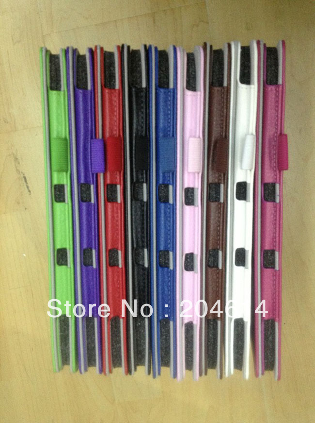 PU Leather Skin Case Cover for ASUS ME301T 10.1 inch Tablet PC,9 Colors Wholesale 50pcs/lot(China (Mainland))