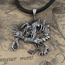 wow World of Warcraft Ghoul Pewter Pendant Necklace, high quality gothic style men's women games Jewelry Gift