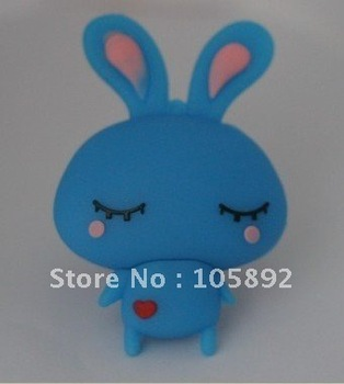 Freeshipping 10pcs /lot 4GB 8GB16GB 32GB 64GB rabbit usb ,lovely bunny usb ,cartoon disk ,animal pendrive with metal box package
