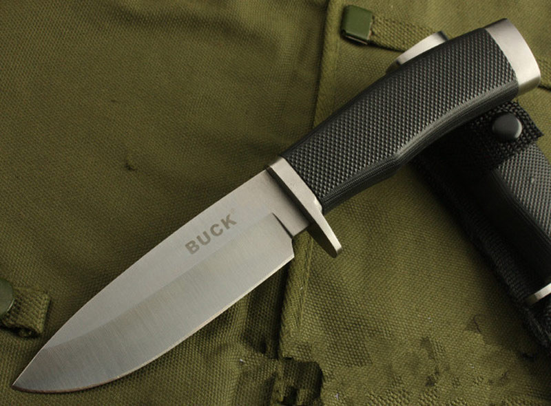 Buy Buck 009 56HRC 420 blade fixed blade knife Outdoor Survival Camping Hunting Tools cheap