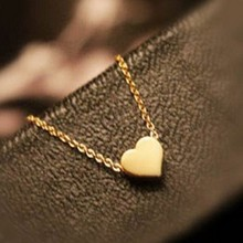 Trendy Tiny Heart Short Pendant Necklace Women Gold Plated Chain Lover Lady Girl Gifts Bijoux Fashion Jewelry(China (Mainland))