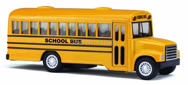 Brand New Classic Yellow School Bus Vintage Die Cast Boys Collectible 1/32 scale Pull-Back Alloy model toy cars(China (Mainland))