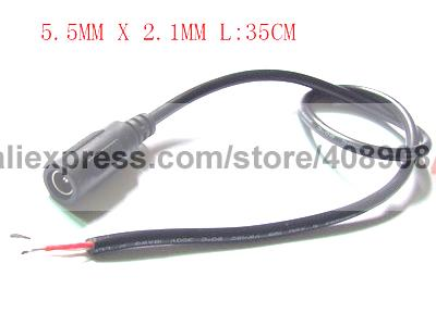 50pcs 35cm 5.5mm x 2.1mm DC Cable Power Charger Soldering Iron DIY to CCTV Plug<br><br>Aliexpress