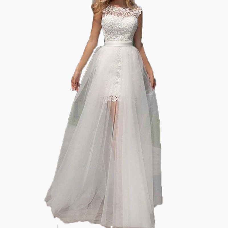 Customize Detachable Train 2017 Sexy White Sheer Long Tulle Skirts Transparent Floor Length Overskirt Bridal Wedding Party Gown(China (Mainland))