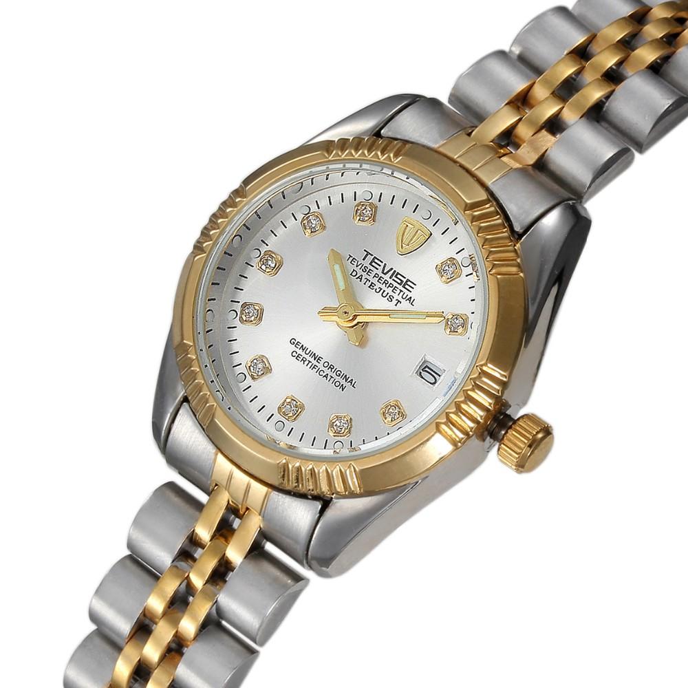 TEVISE мужская Часы Швейцария Бизнес Отдых Кварцевые часы Любителей моды мужчины женщины Из Нержавеющей стали водонепроницаемые Наручные часы