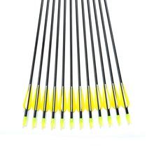 12PCS lot 31inch Archery Hunter Nocks Fletched Arrows Fiberglass Arrow Steel Point 30 80lbs For Recurve
