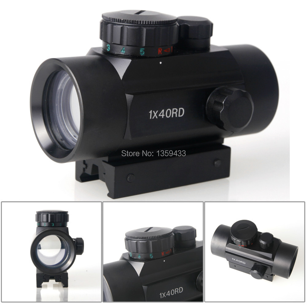 Free shipping! New RD1X40 Laserscope red dot laser sight telescope Optical Riflescope hunting Telescopic Infrared sight