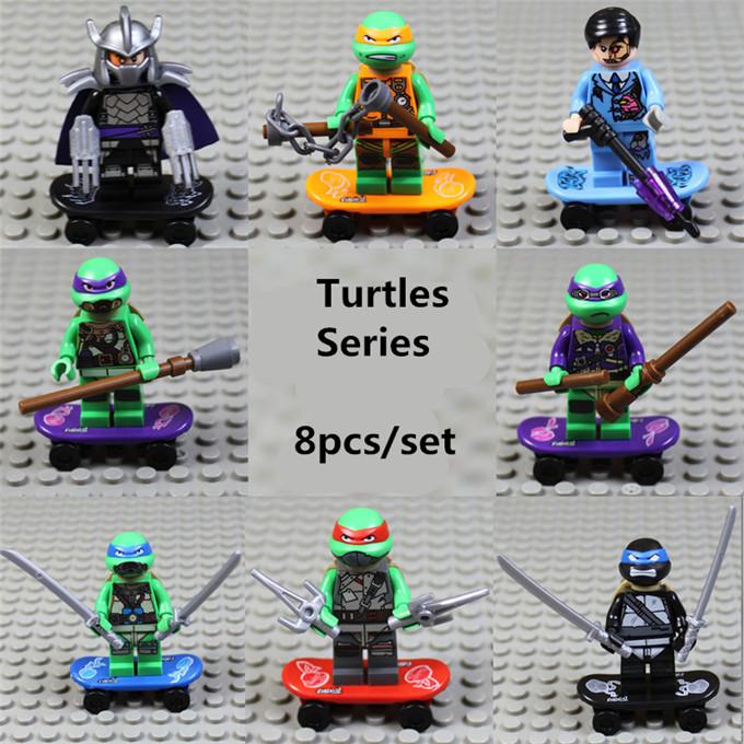 Teenage Mutant Ninja Turtles TMNT Mini Figures Minifigures Blocks Sets Model Toys Compatible With Legominifigures 501-508<br><br>Aliexpress