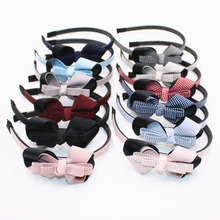 Buy Cute Soild Color Ribbon Bowknot Girls Hairbands Quadrille Stars pots Kids Hair Bows Headbands Headwear Hair Accessories for $1.12 in AliExpress store