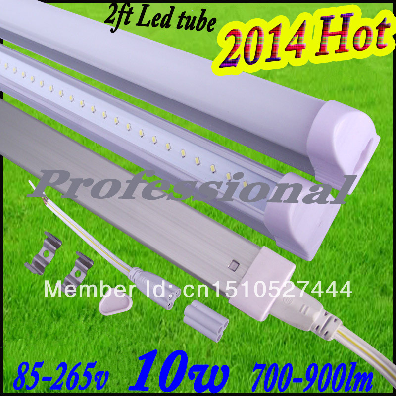 Free shipping 25pcs led tube t5 600mm 10w T5 led tube 60cm led fluorescent t5 lamp 700-900lm 85-265v led tube light wholesale(China (Mainland))