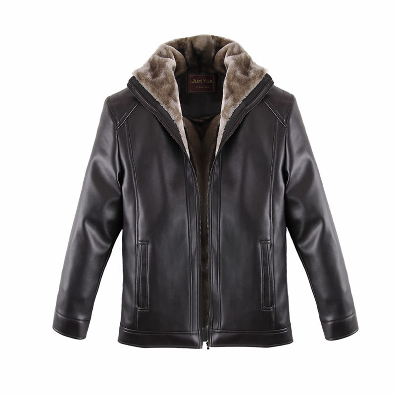 Argy Brand New Mens Leather Jacket Winter Windbreaker Jaket Jaqueta De Couro Masculino Male Fur Leather Jacket For Man JH0002(China (Mainland))