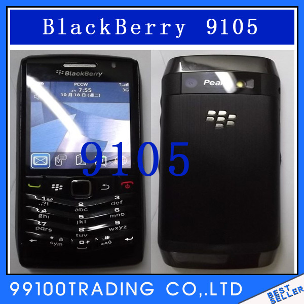 9105 Unlocked Original BlackBerry Pearl 9105 Mobile Phone Free Shipping Refurbished