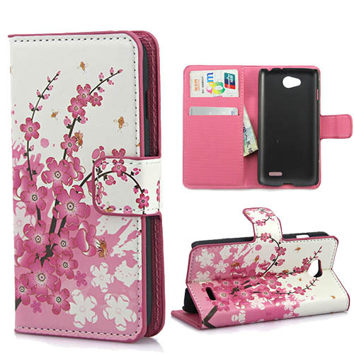 Ultra thin Luxury Fashion Leather Wallet Case cover for LG L70 Beat cell Phone Bags with Card Stand Designer L70 Phone holster(China (Mainland))