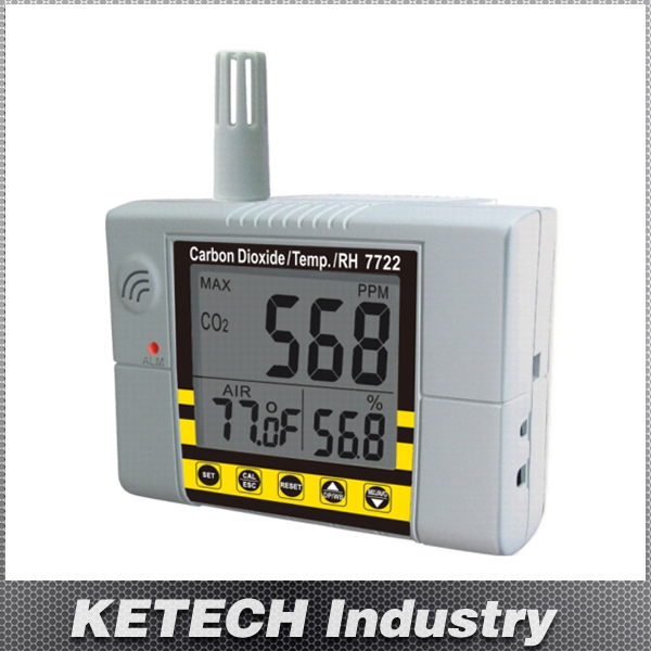 AZ-7722 Wall-mounted Carbon Dioxide Tester CO2 Gas Detector(China (Mainland))