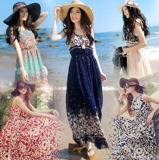 Chiffon maxi dress beach | Fashion dresses lab